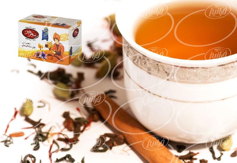 صادرات چای زعفران سحرخیز کیسه ای به آلمان