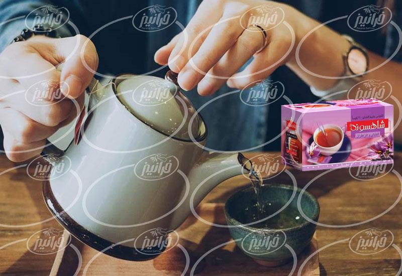 معاملات اصلی چای زعفران شاهسوند پوشش دار