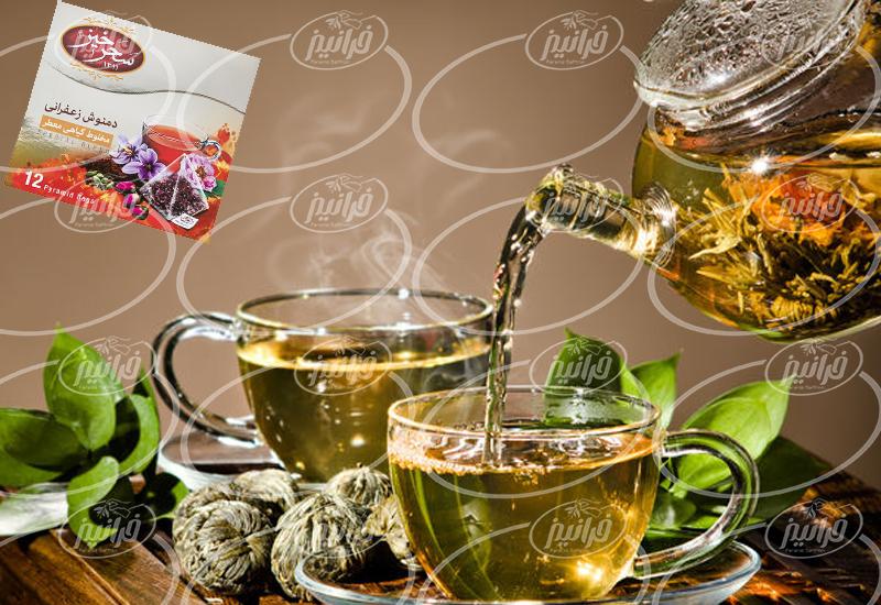 قیمت چای زعفرانی در بسته بندی تی بگ