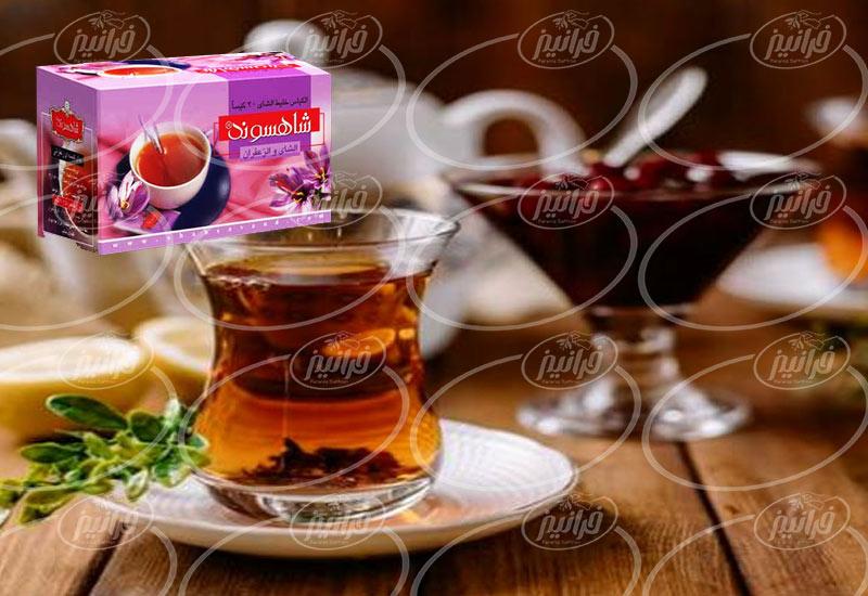 خرید پکیج شیک چای زعفران شاهسوند