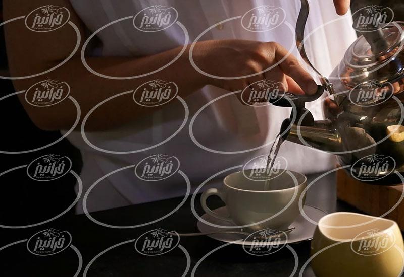 خرید عمده چای زعفران قاشقی ۱۶ عددی