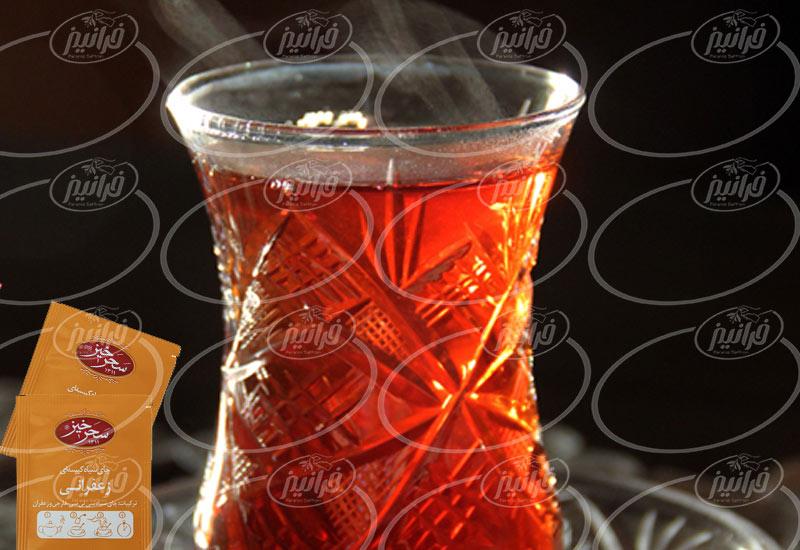 سفارش بدون معطلی چای سیاه زعفرانی سحرخیز